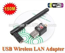 100% Original Mini 150M USB WiFi Wireless Network Networking Card LAN Adapter + Antenna Computer Accessories +Software Driver