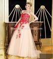 2014 novo estilo nobre uma- querida linha organza apliques de renda formal elegante longo especial ocasião vestidos de noite dressesed0284