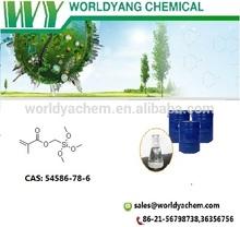 Worldyang (Methacryloxymethyl)trimethoxysilane;Geniosil XL 33;cas no 54586-78-6;colorless liquid
