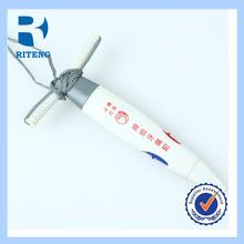 custom design white plastic ball pen
