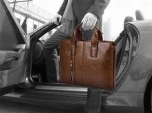 Fashion Men Leather Shoulder Bag Men Leather Handbag