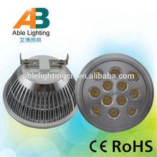 warm white dimmable smd dc 12v led spots light g53 gu10 ar111 12w