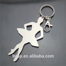 2014 Wholesale custom keychain dancing girl
