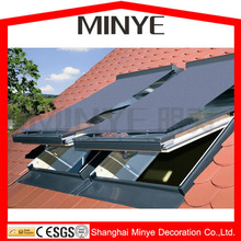 heat break heat insulation curtain with luxury top hung opening slope skylight