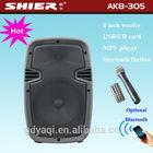 8'' Digital Echo control wireless portable speaker with class d amplifier AK8-305