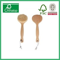 wooden hair brush with boars bristles