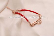 fashion gold gourd bracelet delicate gold charm cord bracelet for women best friendship bracelet gift
