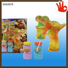 China wholesale dinosaur bubble gun animal bubble gun machine gun bubble