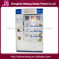 De madera mx-wcm008 maquillaje mac soporte de exhibición cosmético para tienda de revlon