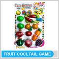 Diy plastilina frutas y verduras modelo de juego conjunto de modelos de juguetes de frutas de juego del coctel