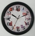musical wall clock cat wall clock