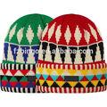 высокое качество акрилового нестандартные вязание крючком шапочка с цветком