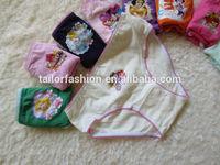 underwear for girl guangzhou 100% cotton cartoon character printing brief underwear