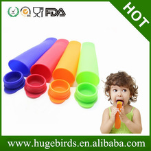Non-sticky silicone ice pop molds/silicone ice pop maker sets