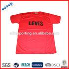 For promotional hot sale 100% polyester wording logo shirt