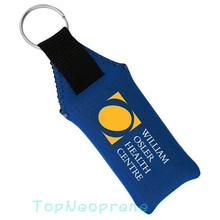 Floating neoprene key holder ring keychain fob, promotional floating neoprene keychain