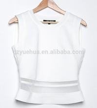 new summe womens net high neck sleeveless tops