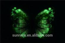 Luminous artificial flying butterfly wings