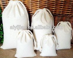 Custom Logo Printing Cotton Canvas Drawstring Bag