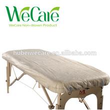 desechables no tejidos hospital colchón de la cama cubierta con elástico alrededor de la cama de masaje de la cubierta