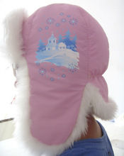 new style kids winter hats and caps with earflap for girls