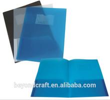 Good Price a4 PP plastic portfolio with 3 prongs 2 pockets
