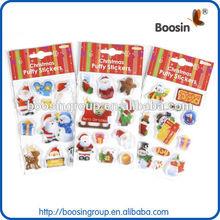Custom christmas/halloween foam puffy sticker