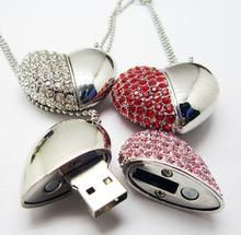 2014 diamond heart usb usb flash,custom free logo heart shape usb memory sticks 4GB