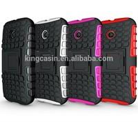 Hot selling Kickstand shockproof robot hybrid combo phone cover case for Motorola Moto E