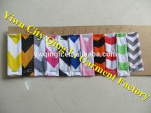 Yiwu City Qing Li Garment Factory Cotton Chevron Print Color Chart Colorful Kids Zigzag Color Chart