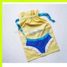 Yellow Cotton Lingerie Bags Bridesmaid Bride Bachelorette Gifts