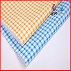 Wholesale Yellow Blue Cotton Yarn Dyed Tartan Plaid Fabric