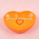 Customized plastic heart shape soap dish/case/holder