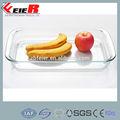 3.0L borosilicato Rectangular plato, Para hornear cuadrado, Molde para hornear de vidrio placa
