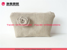 Unique design linen bag cosmetic bag for promotional