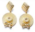Bijoux uniques 2015 mode boucles d'oreilles en or pour la dame
