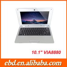 "10"" cheap laptop VIA8880 dual core laptop computer"