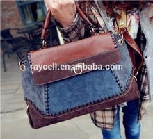 2014 european and american style cowboy bag/ nubuck pu leahter spiced name brand retro cowboy handbag