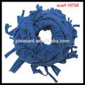 halstuch strickmuster navy blauen schal mit fransen