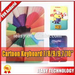 Hot sale OEM pu leather keyboard case mini usb keyboard case
