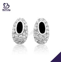 AAA cubic stone silver bijoux wholesale dangler earrings