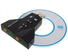 External USB Virtual 7.1 CH Channel 3D Audio Sound Card Adapter for Laptop PC
