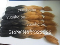 wholesale cheap price black/brown ombre synthetic braiding hair