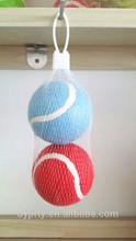 2-Pk Glow-in-Dark Tennis Balls Dog Puppy Fetch Toys