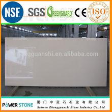 Foshan Factory Beige Cream Quartz Stone Very Fine Grain