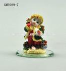 2014 Girl Figurine Resin Folk Crafts Art