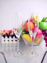 Fashionble design unique crystal long-stem champagne glasses wedding decorations 210ml/7oz (glass factory had passed FDA/EU/SGS)