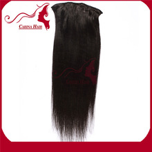 Carina Hair Products Quantity and Quality Assured Best Feedback Straight Indian Remy Hair Clip In Hair Extension Yaki
