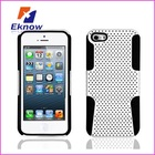 2 in 1 Mesh Case For Iphone 5,hybrid rubberized mesh hard case for 5g