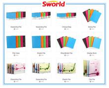 plastic pockets file folder/office supplier pp file folder/pp file folder